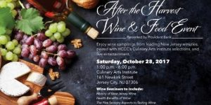 After the Harvest Wine & Food Event on October 28th @ Culinary Arts Institute at Hudson County Community College in Jersey City